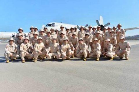 第25次派遣海賊対処行動航空隊のP-3C哨戒機2機ジブチに到着No4