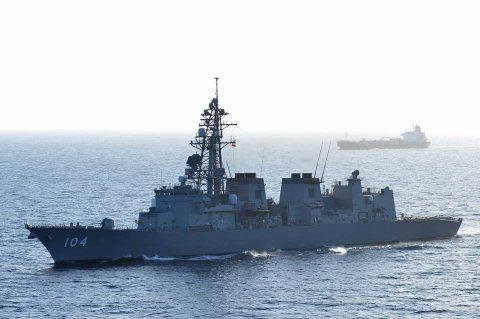 海上自衛隊 派遣海賊対処行動水上部隊(26次隊) 昇任伝達