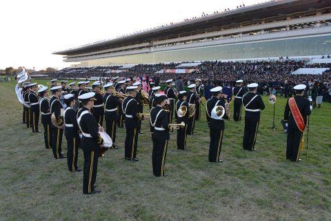 中山競馬場(第61回有馬記念)東京音楽隊によるファンファーレ演奏