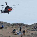 第58次南極地域観測協力(しらせ)の様子、CH-101空輸、整備の様子