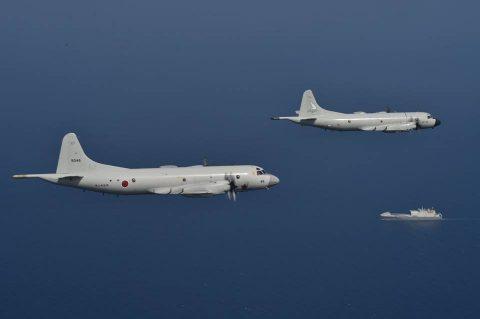 EU海上部隊との共同訓練(八戸航空基地:第2航空隊P-3C)