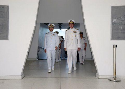 海自 海上幕僚長村川豊海将がアメリカ合衆国(ハワイ)を実務訪問