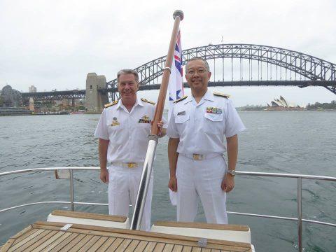 海上幕僚長はオーストラリア海軍本部長からの公式招待に応じ同国を訪問