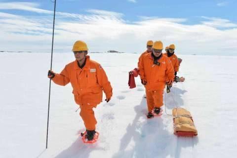 第58次南極地域観測協力(しらせ)の様子、海洋観測、氷上調査
