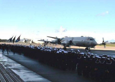 第25次派遣海賊対処行動航空隊 八戸航空基地からジブチに向け出発