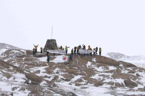 第58次南極地域観測協力(しらせ)の様子 越冬隊員による見送り・海洋観測支援