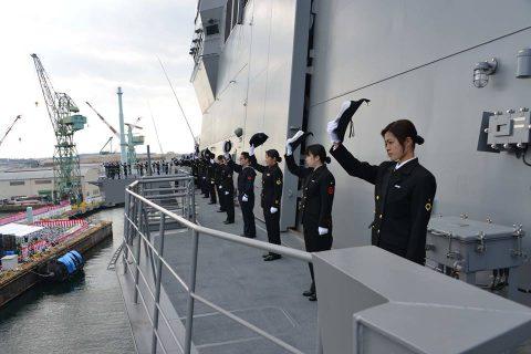 護衛艦かが 引渡式・自衛艦旗授与式 就役・予定日(海上自衛隊)