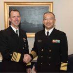 海上幕僚長村川豊海将 米海軍作戦本部、米海軍兵学校等訪問時の様子