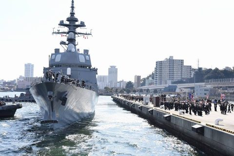 海上自衛隊27次派遣海賊対処行動水上部隊 護衛艦てるづき出国行事