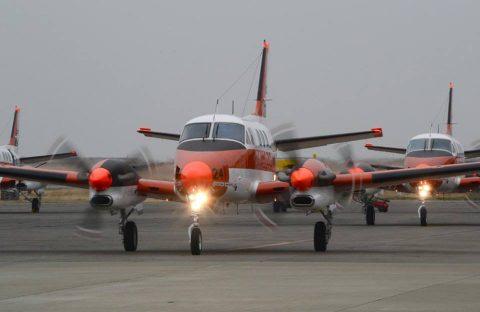 TC-90型練習機 フィリピンへ出国行事 徳島航空基地 固定翼機