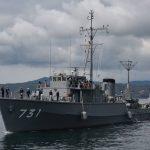掃海管制艇ゆげしま 函館基地から呉基地 転籍 海上自衛隊掃海艇