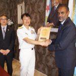 第151連合任務部隊司令官 福田達也 海将補 ジブチ訪問