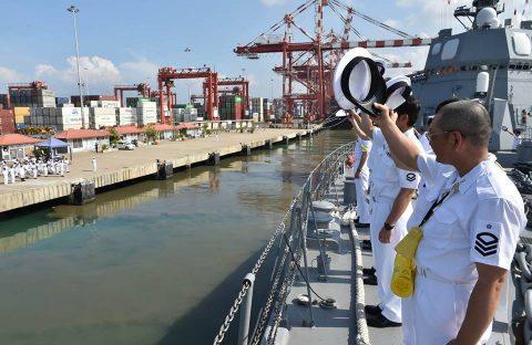 27次派遣海賊対処行動水上部隊 護衛艦てるづき2スリランカ海軍共同訓練
