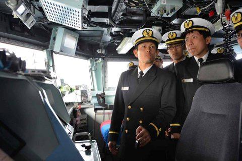 近海練習航海(練習艦隊)小樽寄港時の様子 2017年・幹部候補生
