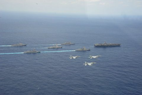 日米共同巡航訓練 あしがら さみだれ カールビンソン F-15