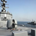 サウジアラビア王国海軍との親善訓練の様子(8護隊司令 小林1佐)