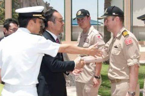 第151連合任務部隊司令部バーレーンに宮澤博行防衛大臣政務官訪問