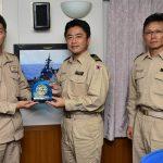 派遣海賊対処行動航空隊司令が、派遣海賊対処行動水上部隊を訪問