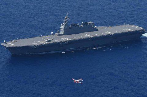 護衛艦いずも・さざなみ&フィリピン海軍フリゲート 親善訓練/TC-90