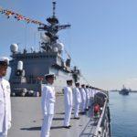 第1輸送隊の輸送艦おおすみ 多国間共同訓練コモド2018に参加
